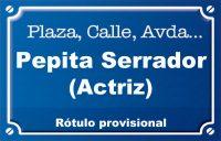Actriu Pepita Serrador (calle)