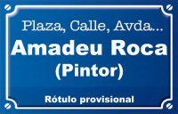 Amadeu Roca, pintor (calle)