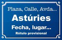 Astúries (calle)