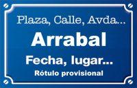 Arrabal (calle)
