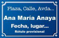 Ana María Anaya (calle)