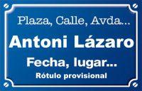 Antoni Lázaro (calle)