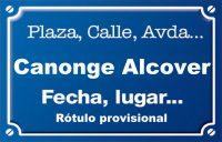 Canonge Alcover (calle)