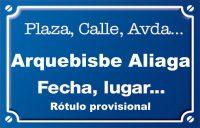 Arquebisbe Aliaga (calle)