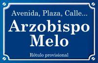 Arquebisbe Melo (calle)
