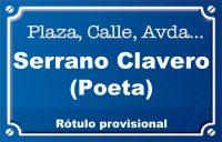 Poeta Serrano Clavero (calle)