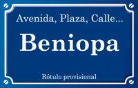 Beniopa (calle)