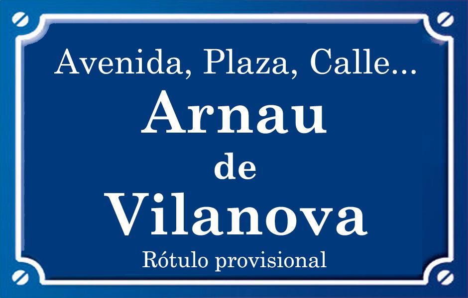 Arnau de Vilanova (calle)