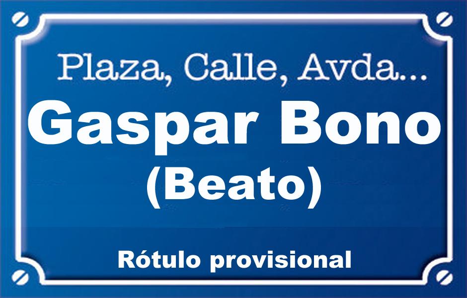 Beat Gaspar Bono (calle)