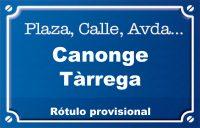 Canonge Tàrrega (calle)