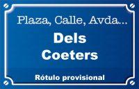 Dels Coeters (calle)
