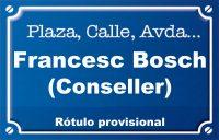 Conseller Francesc Bosch (calle)