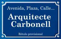Arquitecte Carbonell (calle)