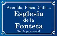Esglesia de la Fonteta (plaza)