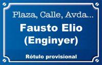 Enginyer Fausto Elio (calle)
