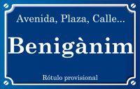 Benigànim (calle)