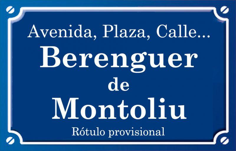 Berenguer de Montoliu (calle)