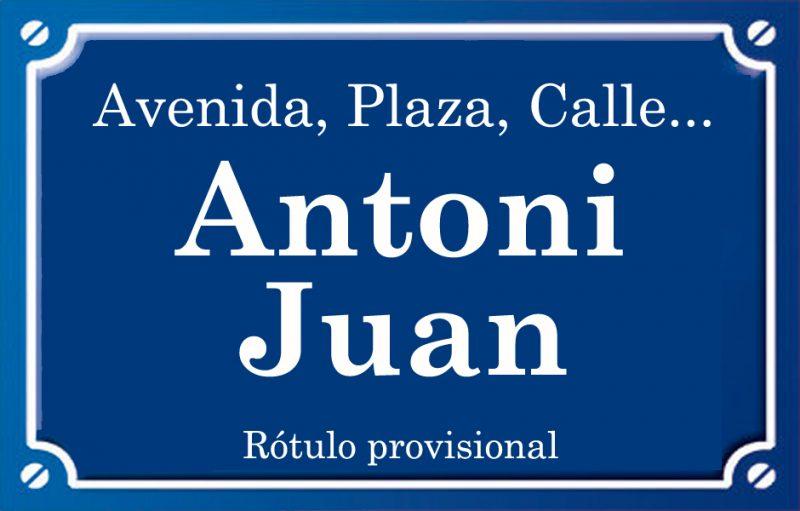 Antoni Joan (calle)