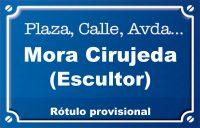 Escultor Mora Cirujeda (calle)