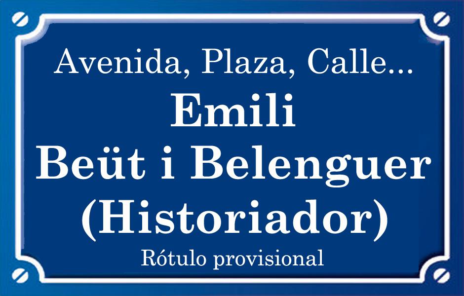 Emili Beüt i Belenguer (plaza)