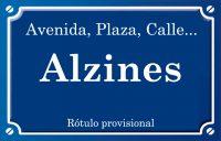 Alzines (calle)