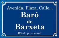 Baró de Barxeta (calle)