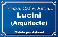 Arquitecte Lucini (calle)