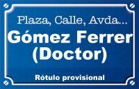 Doctor Gómez Ferrer (calle)