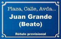 Beato Juan Grande (calle)