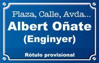 Enginyer Albert Oñate (calle)