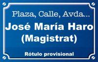 José María de Haro Magistrat (calle)