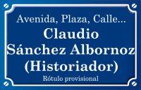 Claudio Sánchez Albornoz historiador (calle)