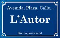 Autor (plaza)