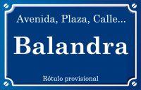 Balandra (calle)