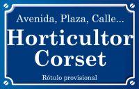 Horticultor Corset (plaza)