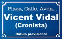 Vicent Vidal Cronista (calle)