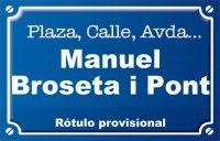 Manuel Broseta i Pont (plaza)