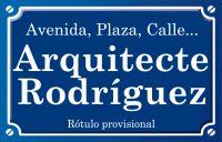 Arquitecte Rodríguez (calle)