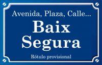 Baix Segura (calle)