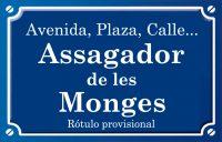 Assagador de les Monges (calle)