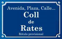 Coll de Rates (calle)