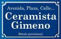 Ceramista Gimeno (plaza)