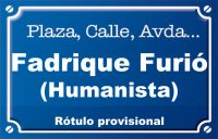 Humanista Fadrique Furió (calle)