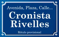 Cronista Rivelles (calle)
