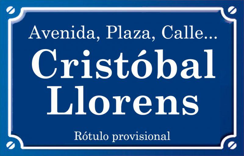 Cristòfol Llorens (calle)