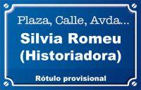 Historiadora Silvia Romeu (calle)