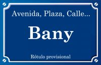 Bany (calle)