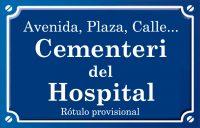 Cementeri de l'Hospital (plaza)