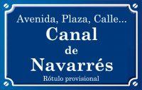 Canal de Navarrés (calle)
