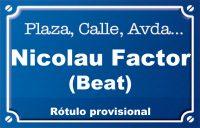 Beato Nicolás Factor (calle)